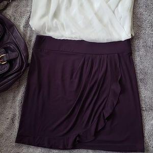New Loft plum color Skirt